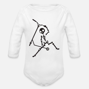 Scooter Scooter scooter - Organic Long-Sleeved Baby Bodysuit