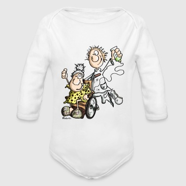 Funny Caregiver - Organic Long Sleeve Baby Bodysuit
