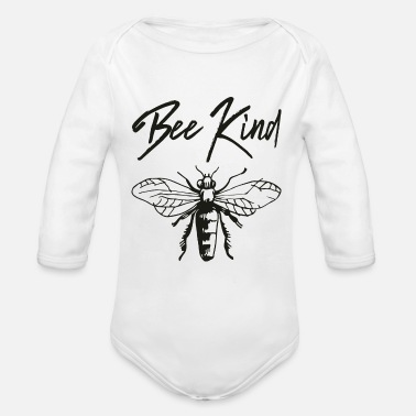 Kind bee kind - Organic Long-Sleeved Baby Bodysuit