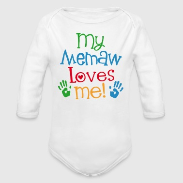 My Memaw Loves Me - Organic Long Sleeve Baby Bodysuit
