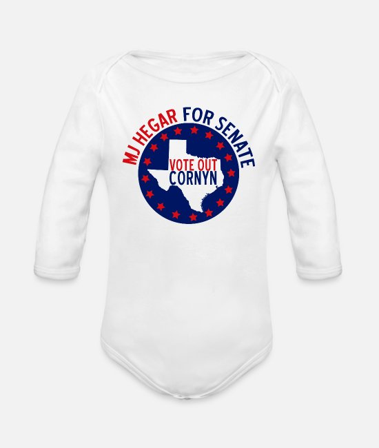 Congress Baby One Pieces - MJ Hegar for Senate - Organic Long-Sleeved Baby Bodysuit white