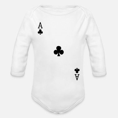 Ace Of Spades Ace of Clubs - Organic Long Sleeve Baby Bodysuit