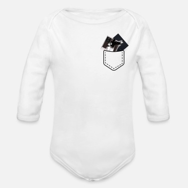 Ariana Pocket with CDs Ariana Grande - Organic Long Sleeve Baby Bodysuit
