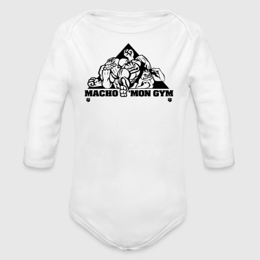 Macho Macho mon Gym - Organic Long Sleeve Baby Bodysuit