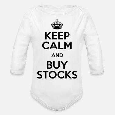 Stockmarket KEEP CALM AND BUY STOCKS - Organic Long Sleeve Baby Bodysuit