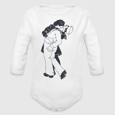 kiss - Organic Long Sleeve Baby Bodysuit