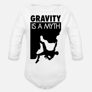 Myth Gravity Is A Myth - Organic Long-Sleeved Baby Bodysuit