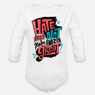 Typo Collection Make Great - Organic Long-Sleeved Baby Bodysuit