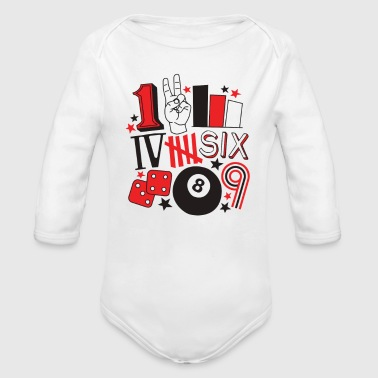 Numbers - Organic Long Sleeve Baby Bodysuit