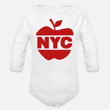 Big Apple NYC Big Apple - Organic Long Sleeve Baby Bodysuit