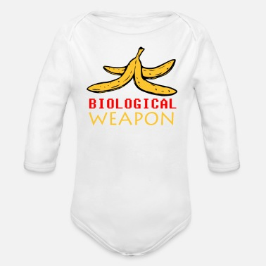 Biological Biological Weapon funny tshirt - Organic Long Sleeve Baby Bodysuit