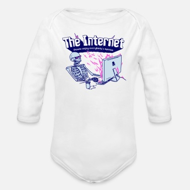 Internet The Internet - Organic Long Sleeve Baby Bodysuit