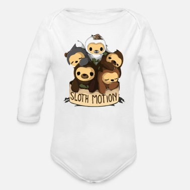 Motion SLOTH MOTION - Organic Long-Sleeved Baby Bodysuit