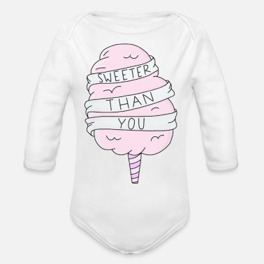 Candy Sweeter Than You - Organic Long-Sleeved Baby Bodysuit