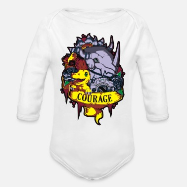 Digital Digital courage - Organic Long-Sleeved Baby Bodysuit