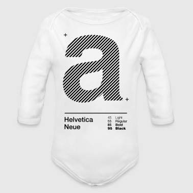 a Strips - Organic Long Sleeve Baby Bodysuit