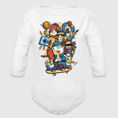 skateboard - Organic Long Sleeve Baby Bodysuit