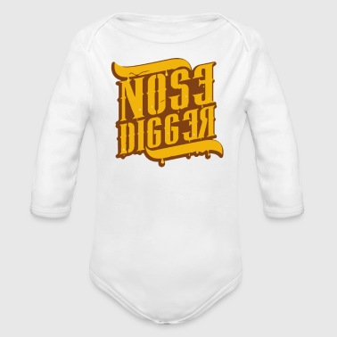 Nose Digger - Organic Long Sleeve Baby Bodysuit