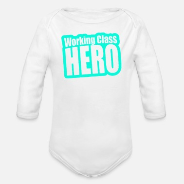 Working Class Working Class Hero - Organic Long Sleeve Baby Bodysuit