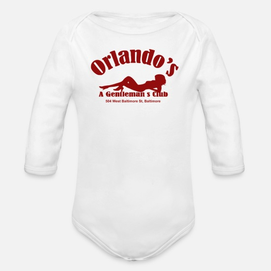 Wireless Baby Clothing - he Wire Orlando s Gentlemans Club Cult TV - Organic Long-Sleeved Baby Bodysuit white