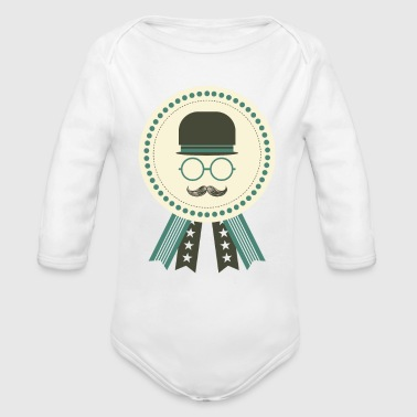 dad award - Organic Long Sleeve Baby Bodysuit