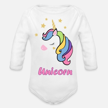 Unicorn Unicorn - Organic Long-Sleeved Baby Bodysuit