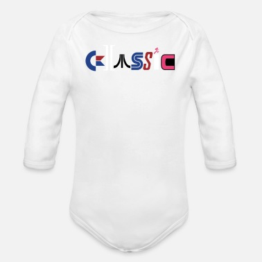 Classic Game Classic Gaming Systems - Organic Long-Sleeved Baby Bodysuit