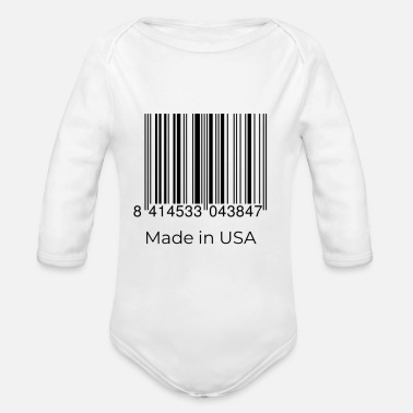Usa made in the USA - Organic Long-Sleeved Baby Bodysuit