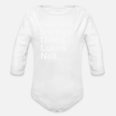 Siblings Crain Siblings Name - Organic Long-Sleeved Baby Bodysuit