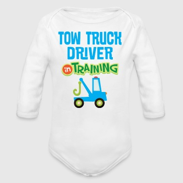 Tow Truck Driver In Training - Organic Long Sleeve Baby Bodysuit