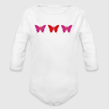 Butterfly trio - Organic Long Sleeve Baby Bodysuit