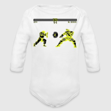 Street Fighter II - Organic Long Sleeve Baby Bodysuit