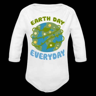 Earth Day Every Day - Long Sleeve Baby Bodysuit
