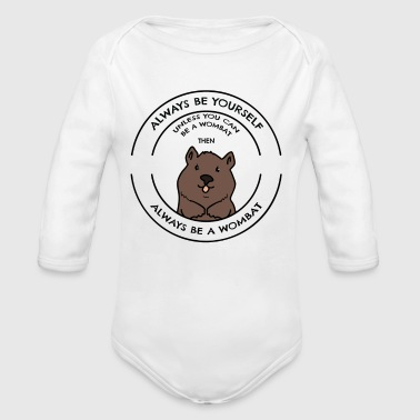 Wombat - Long Sleeve Baby Bodysuit