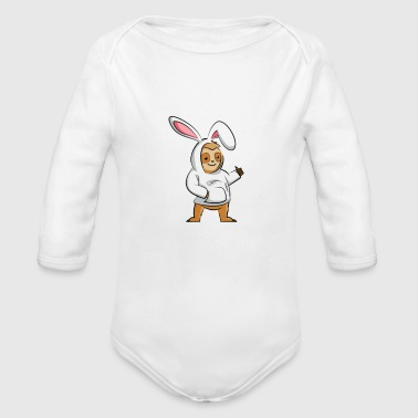 HUNT EGGS AND SLOTH OUT - Long Sleeve Baby Bodysuit