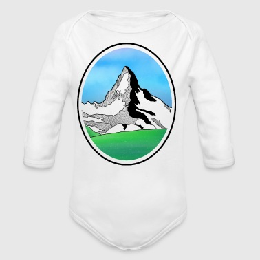 The Matterhorn - Long Sleeve Baby Bodysuit