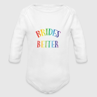 TWO BRIDES DIAMOND RAINBOW - Long Sleeve Baby Bodysuit