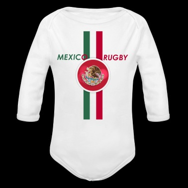 mexico rugby flag design - Long Sleeve Baby Bodysuit