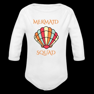 mermaid shell squad - Long Sleeve Baby Bodysuit