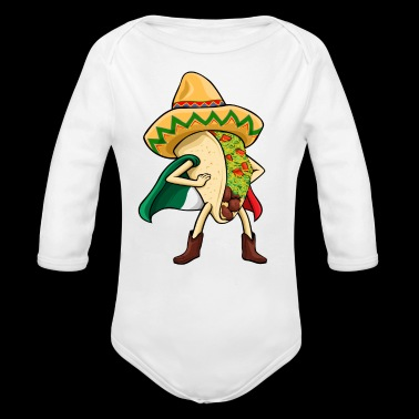 Super Taco Mexican Flag Sombrero - Long Sleeve Baby Bodysuit