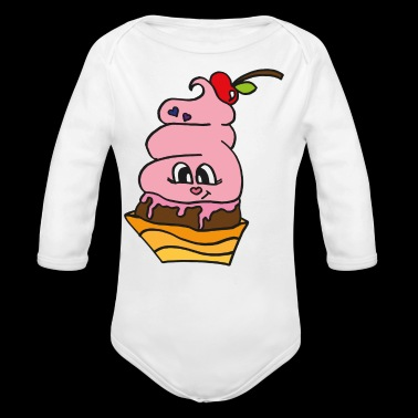 sweet scoop if ice cream , cool gift for summer - Long Sleeve Baby Bodysuit