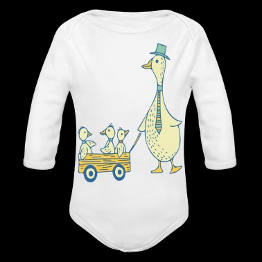 Daddy Duck T Shirt - Organic Long Sleeve Baby Bodysuit