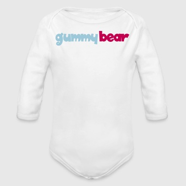 gummy bear - Organic Long Sleeve Baby Bodysuit