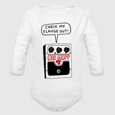 CHECK MY FLANGE OUT - Organic Long Sleeve Baby Bodysuit