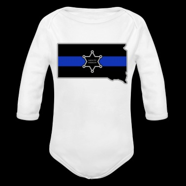 South Dakota Deputy Sheriff T Shirt Thin Blue Line - Long Sleeve Baby Bodysuit
