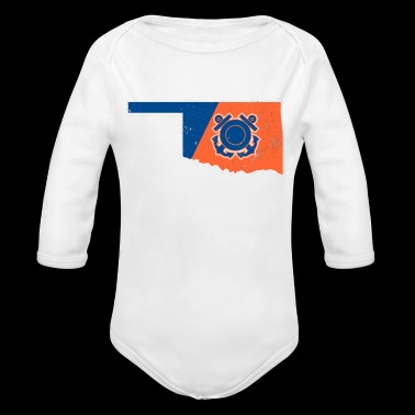 Oklahoma Coast Guard Wife Coast Guard Merchandise - Long Sleeve Baby Bodysuit