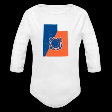 Utah Coast Guard Anchor Shirt Coast Guard Gifts - Long Sleeve Baby Bodysuit