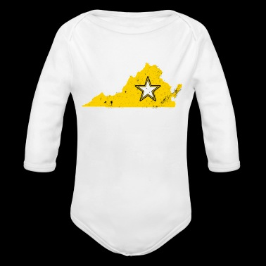 Virginia Army T Shirt Proud Army WIfe Proud Army Sister - Long Sleeve Baby Bodysuit