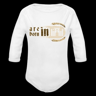 Gothic Birthday Princessess Castle Born 1980 - Long Sleeve Baby Bodysuit