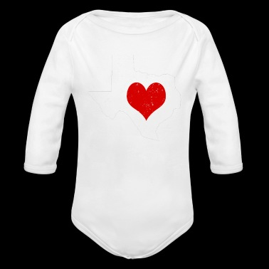 Valentines Day Texas Cute Valentines Day Gift Hearts Shirt - Long Sleeve Baby Bodysuit